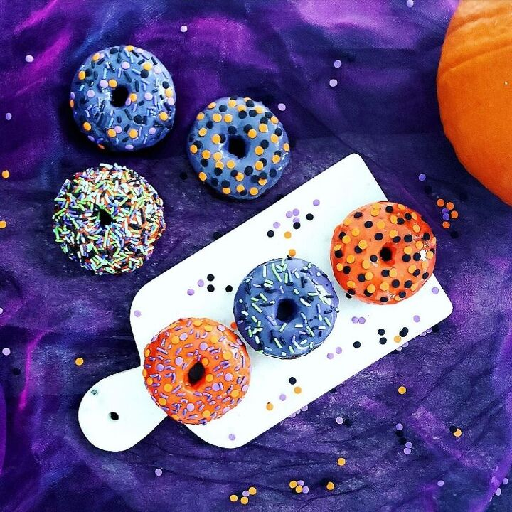 frosted chocolate halloween donuts