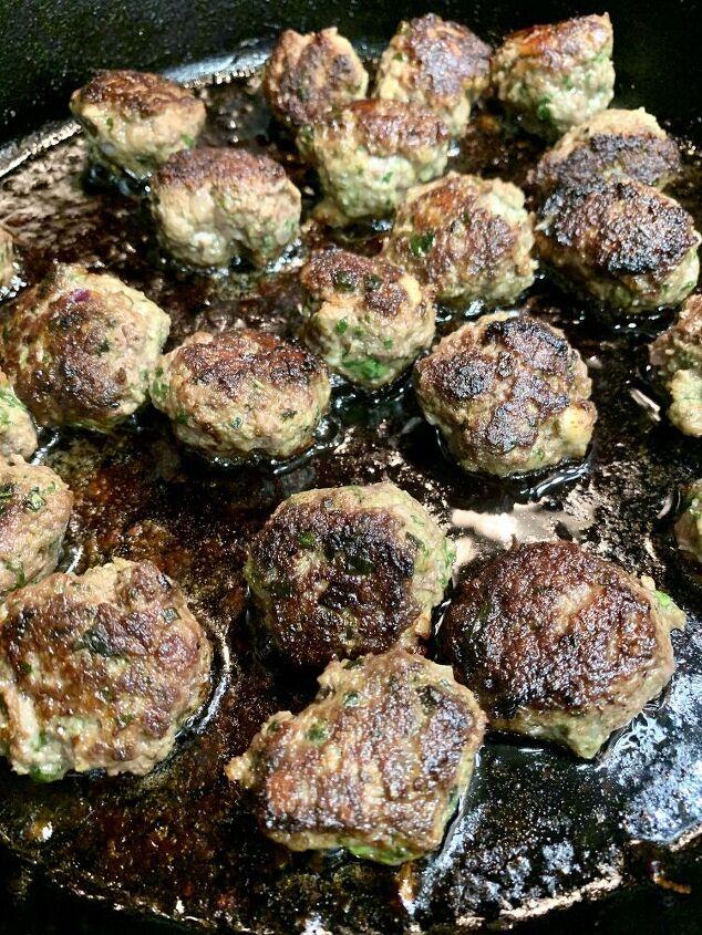 mediterranean lamb mini meatballs hummus bowl, Mediterranean mini lamb meatballs