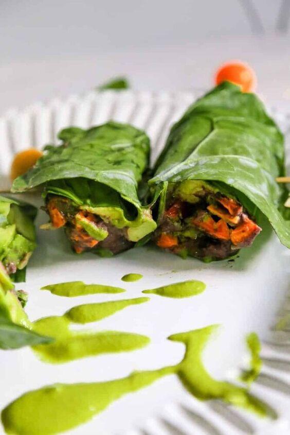 healthy collard green wraps