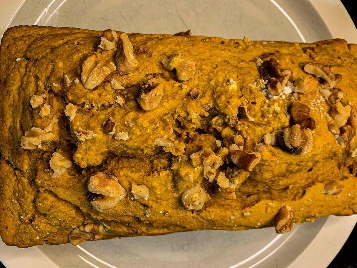 vegan blender pumpkin loaf