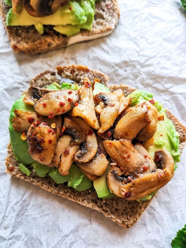 chilli mushroom on avo toast