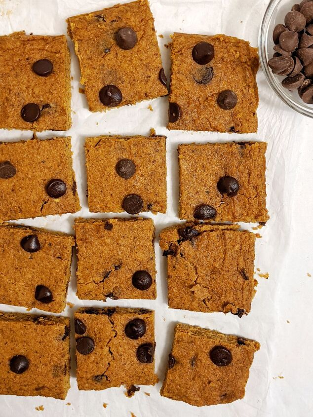 s 10 easy recipes you can whip up using a blender, Chocolate Chip Sweet Potato Blondies