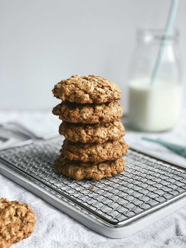 brown butter chai spice oatmeal cookies