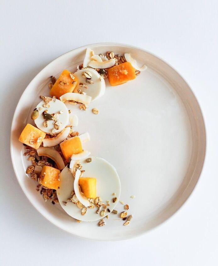 greek yogurt and lemongrass breakfast panna cotta