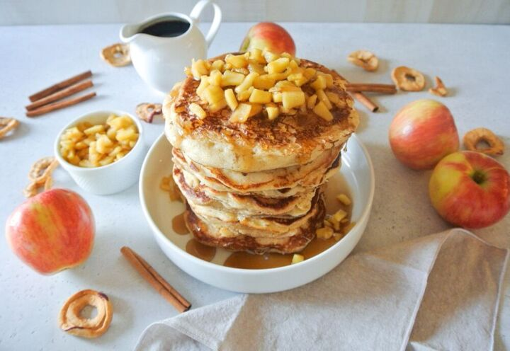 apple cinnamon pancakes with bourbon infused maple syrup