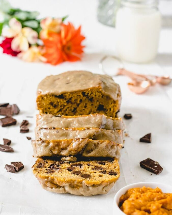 classic pumpkin bread with brown sugar glaze