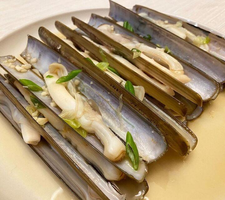 sake soy butter razor clams