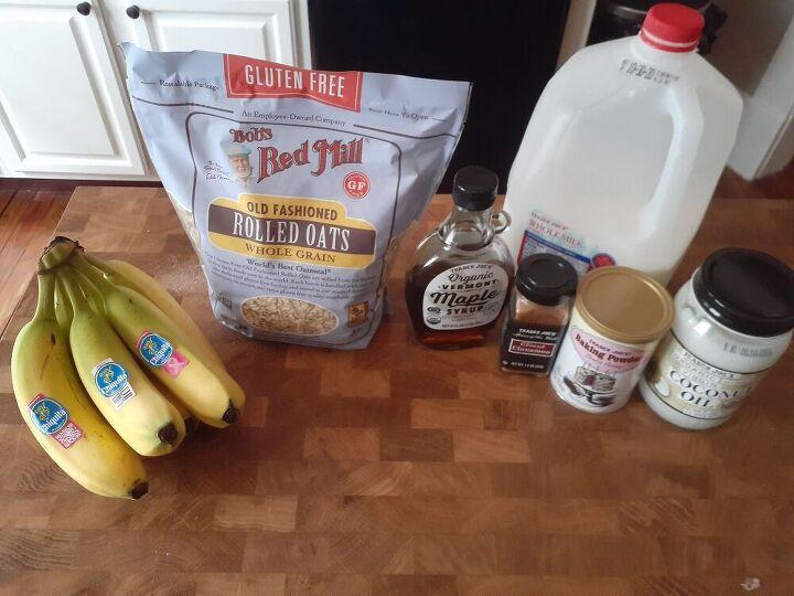 banana bread baked oats