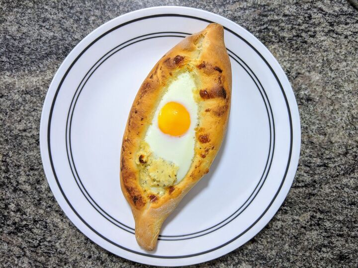 khachapuri traditional georgian dish of bread and cheese