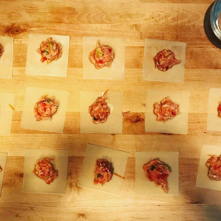 pork and vegetable dumplings