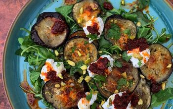Roasted Eggplant Salad With Whipped Ricotta, 'Nduja, and Pistachios