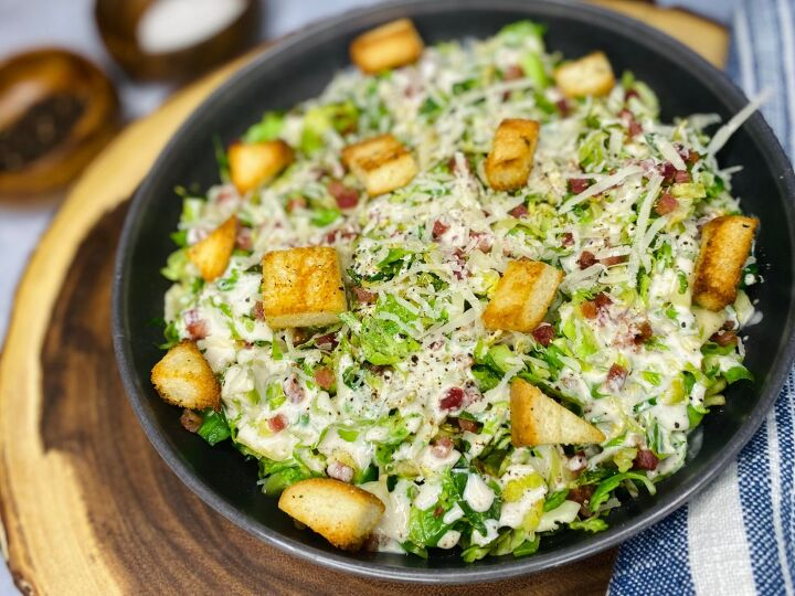 s 12 non intimidating ways to serve brussels sprouts, Brussel Sprout Caesar Salad