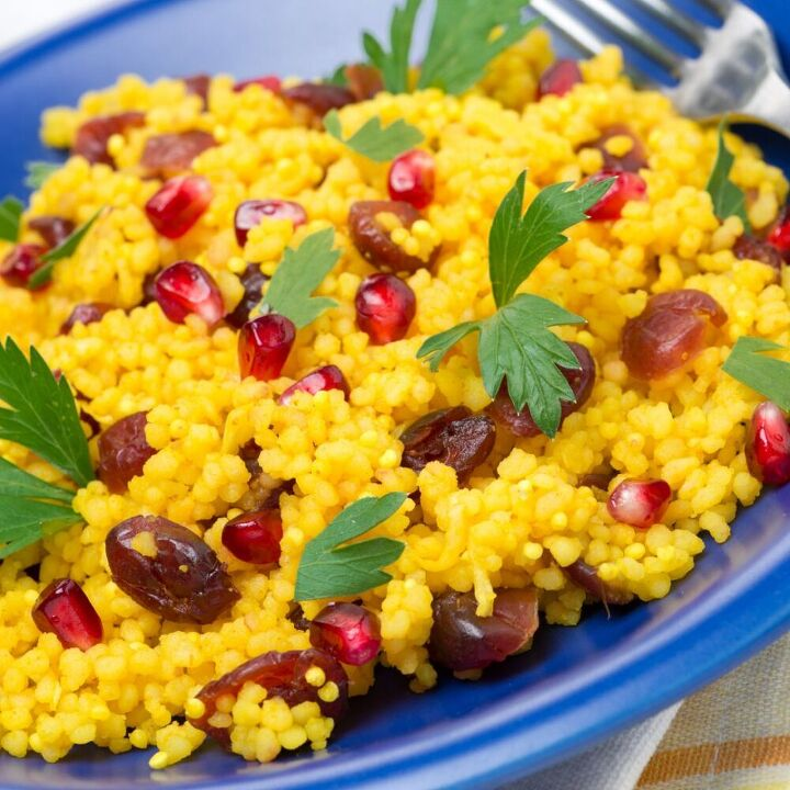 curried couscous with jeweled fruit