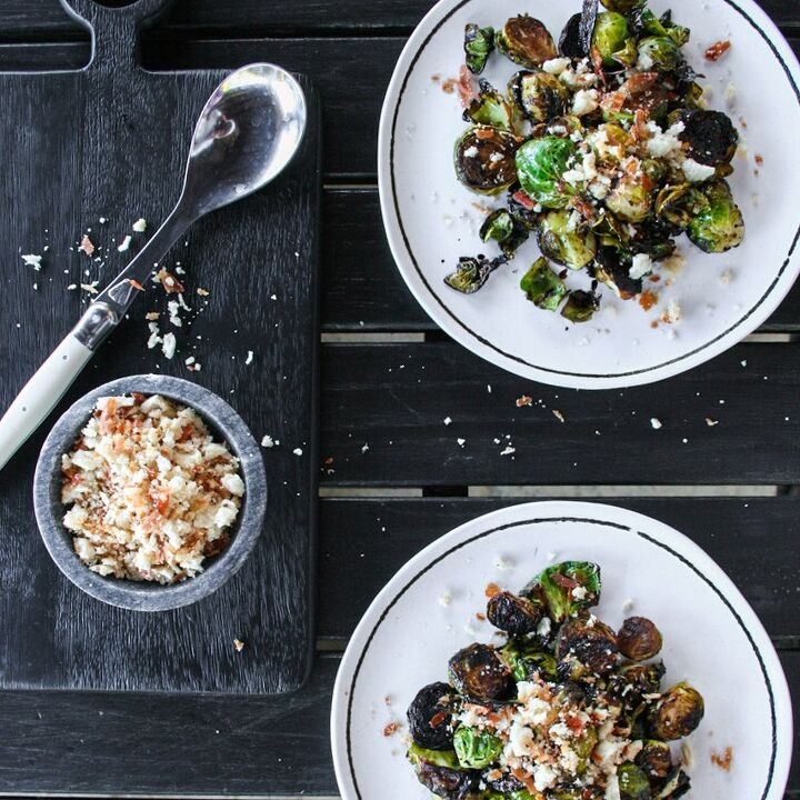 red wine pan fried brussels sprouts