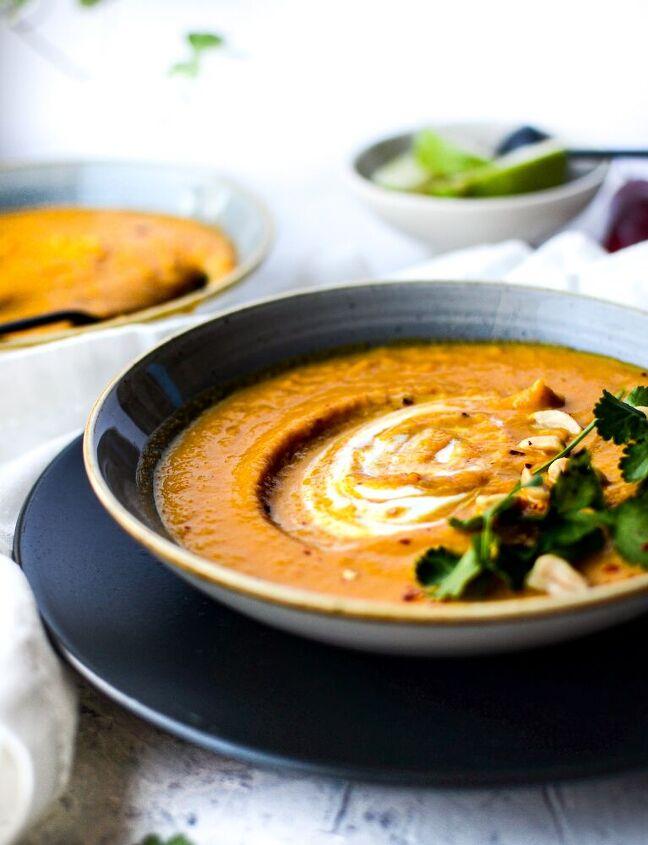 thai panang butternut squash coconut soup