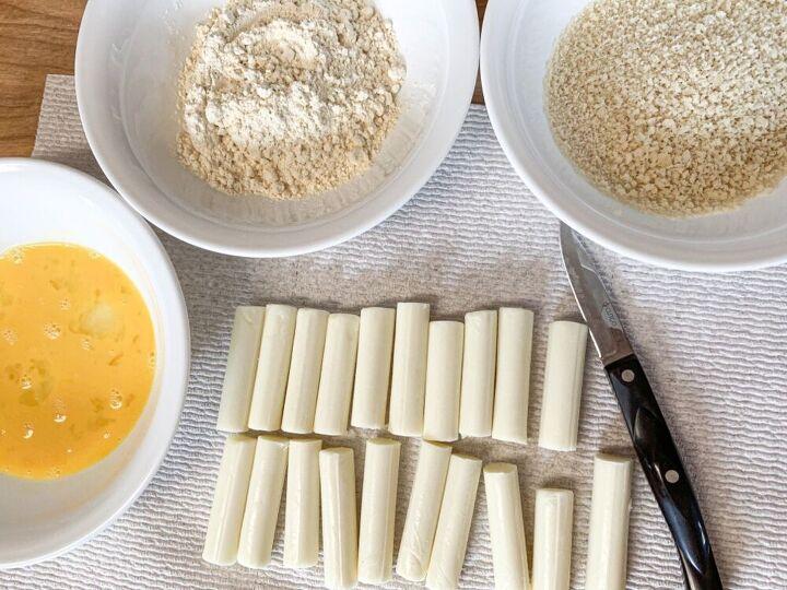 homemade deep fried mozzarella sticks
