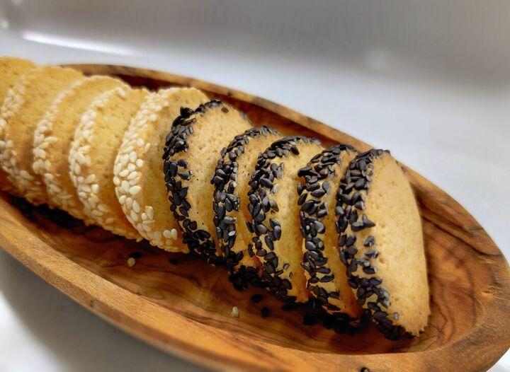 miso sesame butter cookies