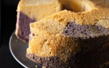 Coconut and Ube Chiffon Cake