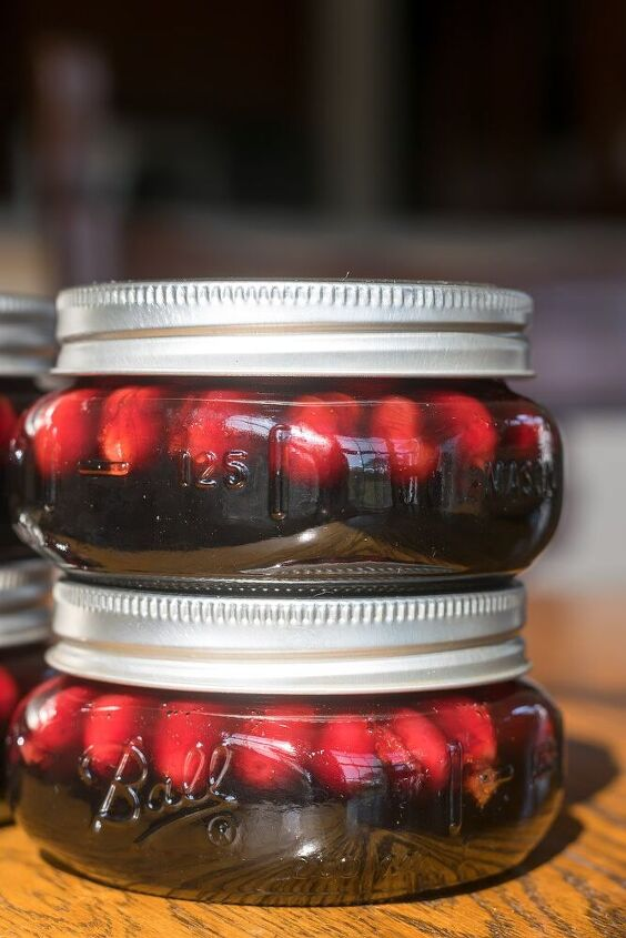spiced pickled cranberries