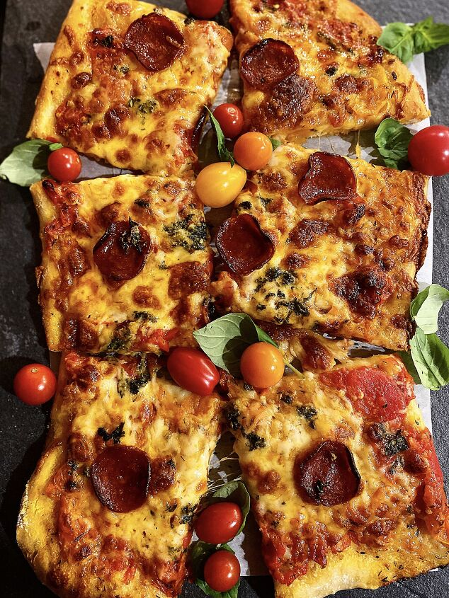 s 15 recipes that will make pizza night even better this week, Tomato Herb Pizza With Hot Honey