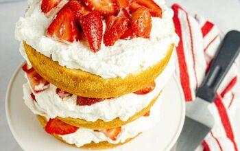 Balsamic Strawberries and Cream Vanilla Cake