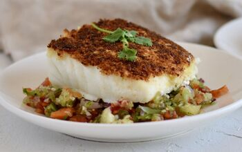 Southwestern Cotija Crusted Halibut With Salsa Fresca
