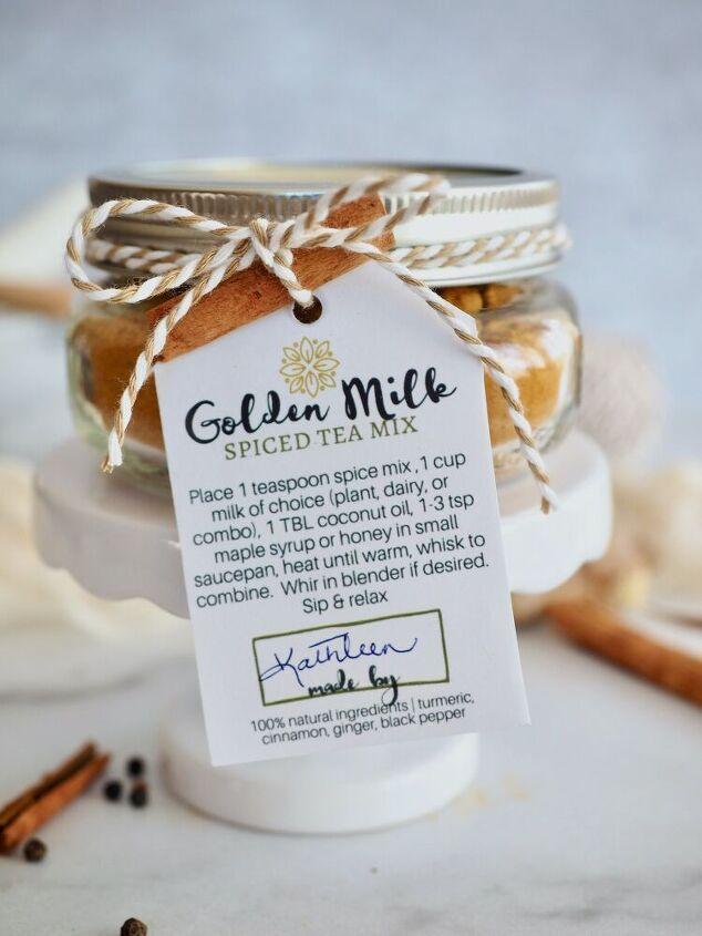 golden milk spice mix free labels turmeric tea