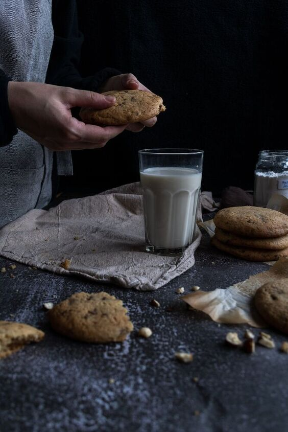 giant chocolate chip and hazelnut cookies
