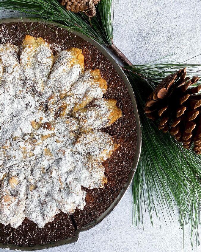 3 ingredient nutella snowflake