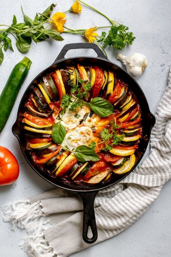 s 15 sugar free recipes for anyone looking to eat better in 2021, Ratatouille With Cheesy Chicken Breast
