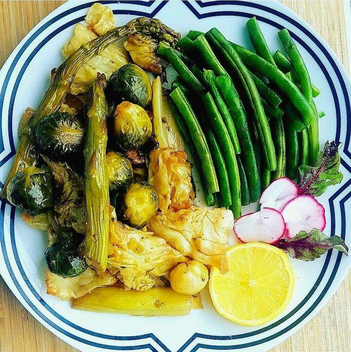 roasted green veggies