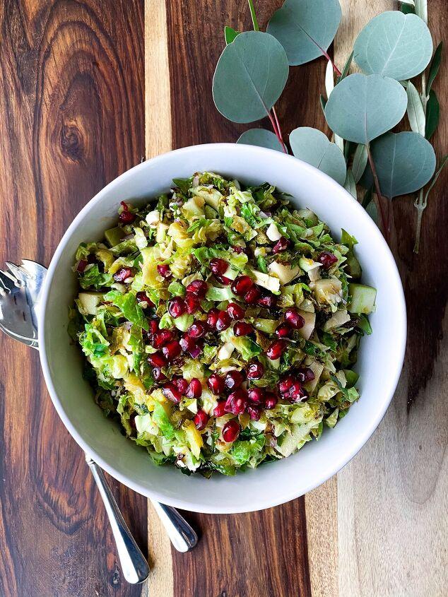 s 13 amazing salads to serve alongside your christmas ham, Brussel Sprout Salad w Honey Citrus Vinaigrette