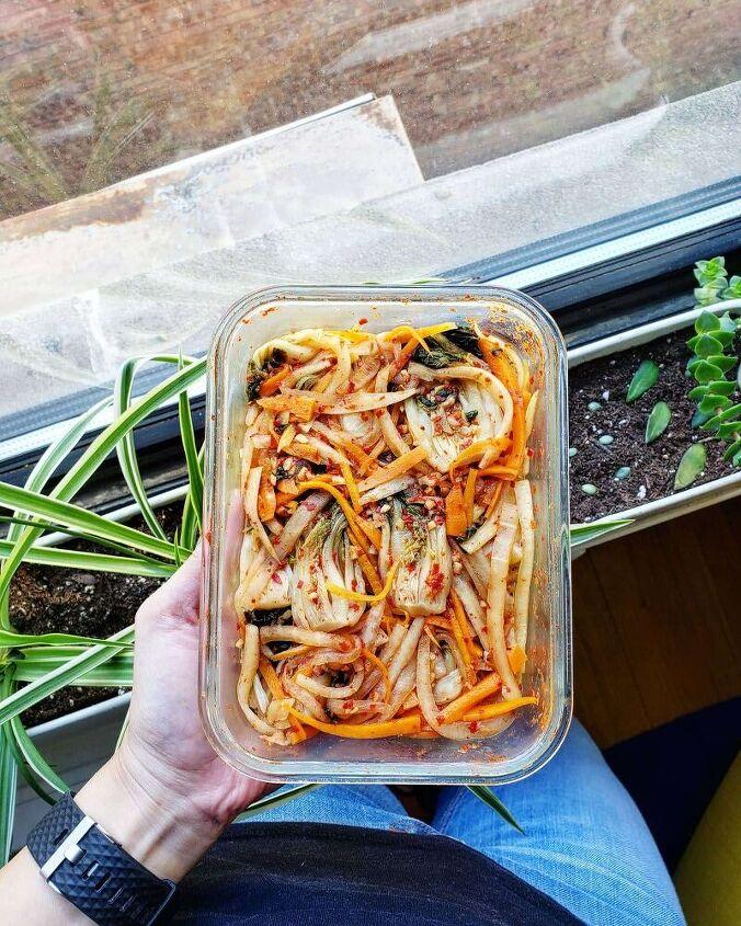 bok choy tips kimchi