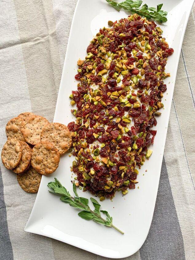 cranberry pistachio cheese log