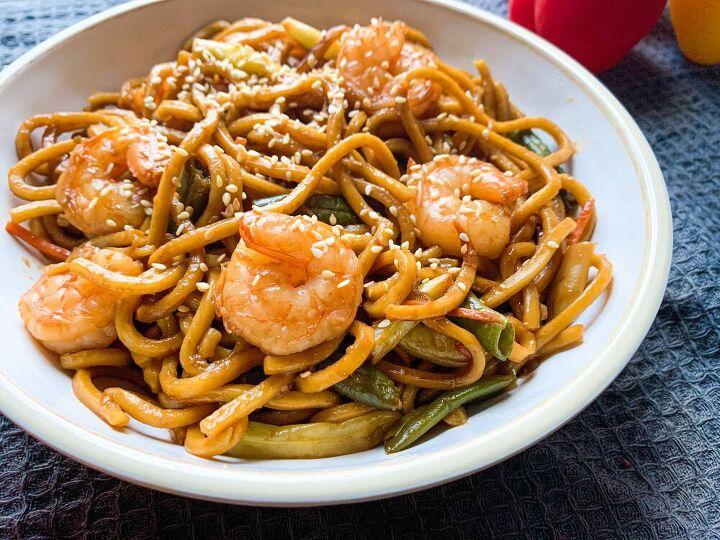 shrimp teriyaki shanghai noodles