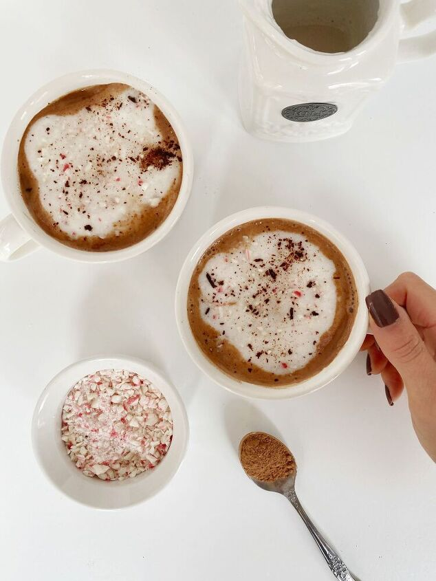 healthy dairy free peppermint hot chocolate