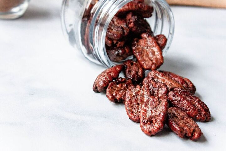 vegan cinnamon spiced pecans