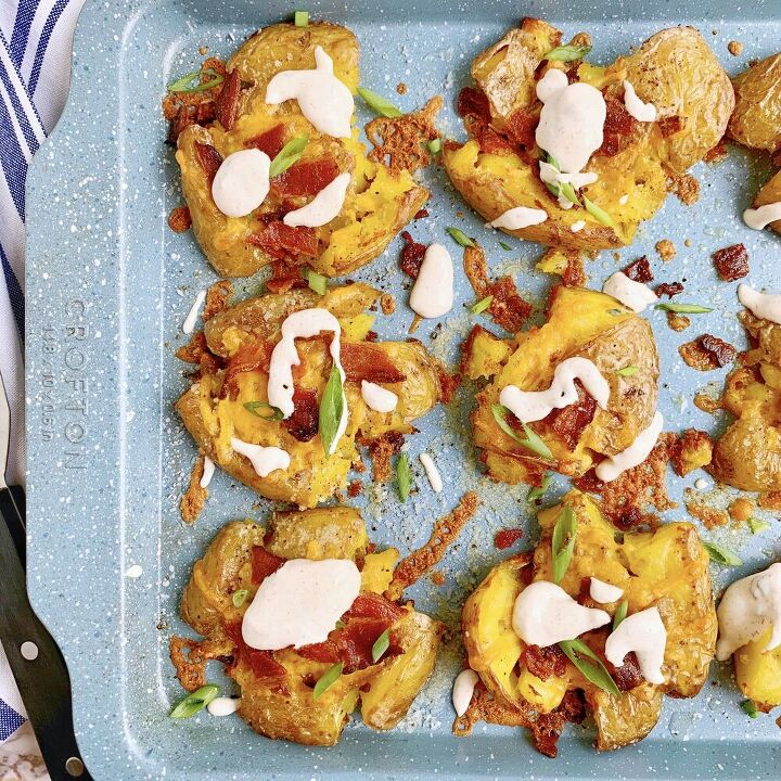loaded smashed potatoes with ranch sour cream