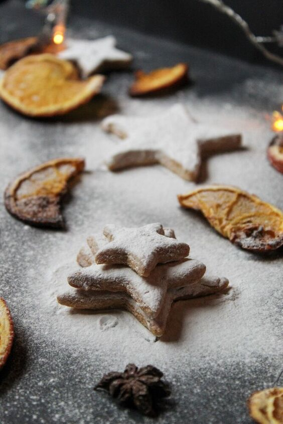 snow coated vanilla bourbon christmas butter cookies