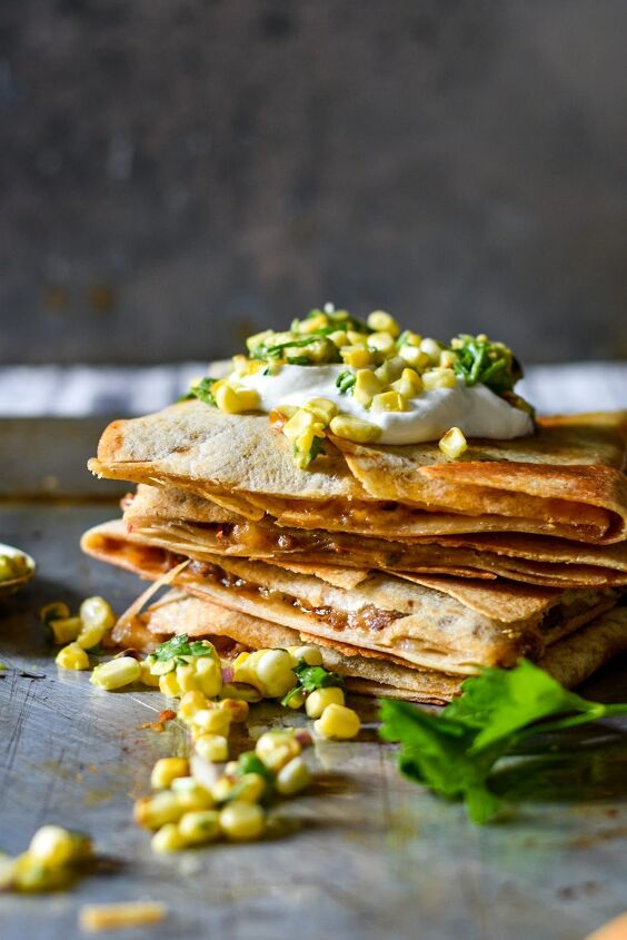 s 13 delicious ways to use your dinner leftovers, Baked Sheet Pan Quesadilla