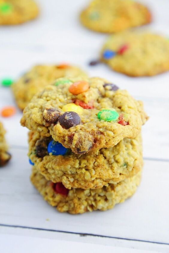 easy chewy oatmeal m m cookies