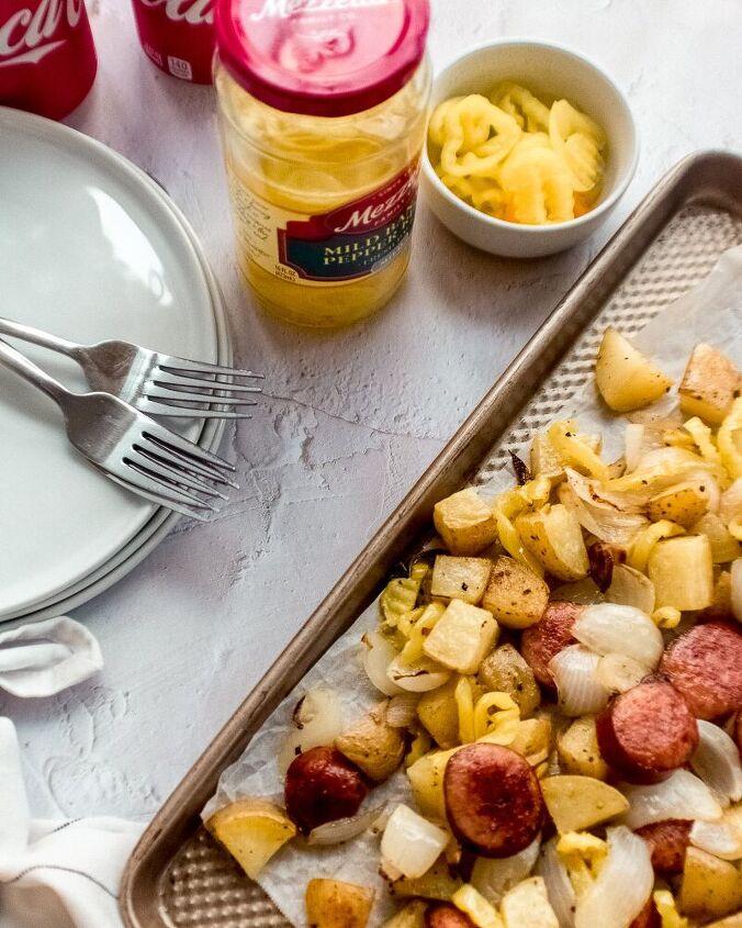 sausage potato and pepper sheet pan dinner