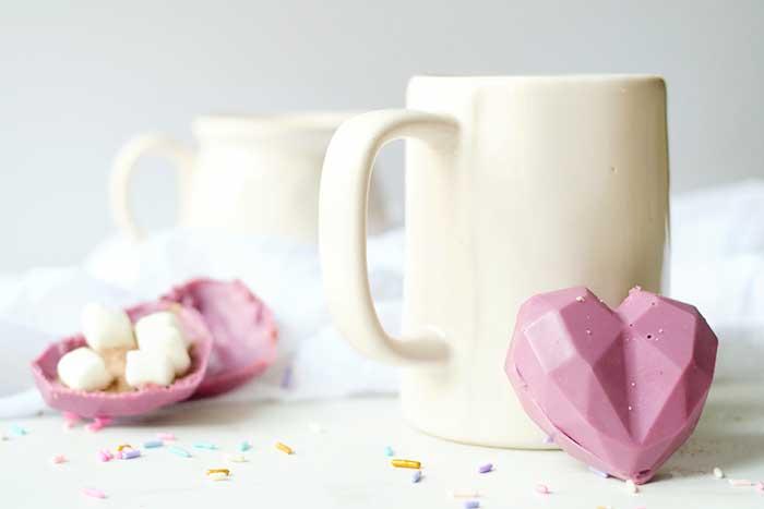 valentine s day hot cocoa bomb