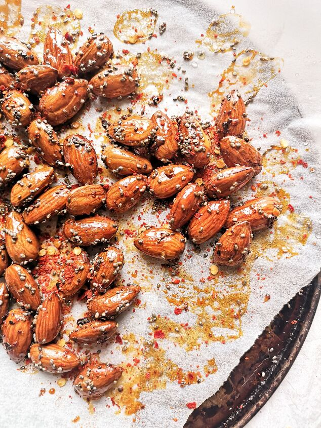 s 10 easy ways to make nuts even more addictive, Chilli Honey Almonds