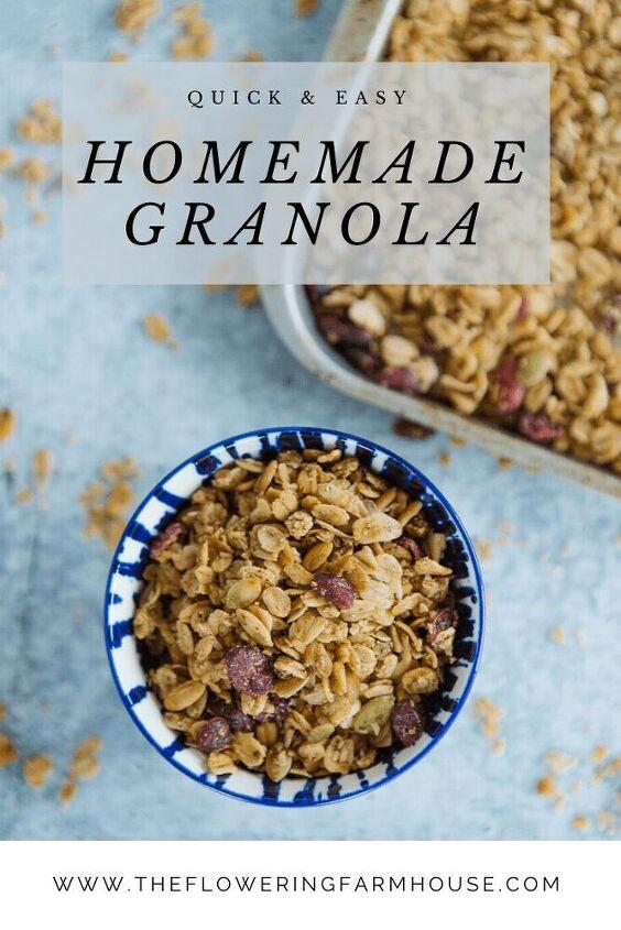 quick easy homemade granola