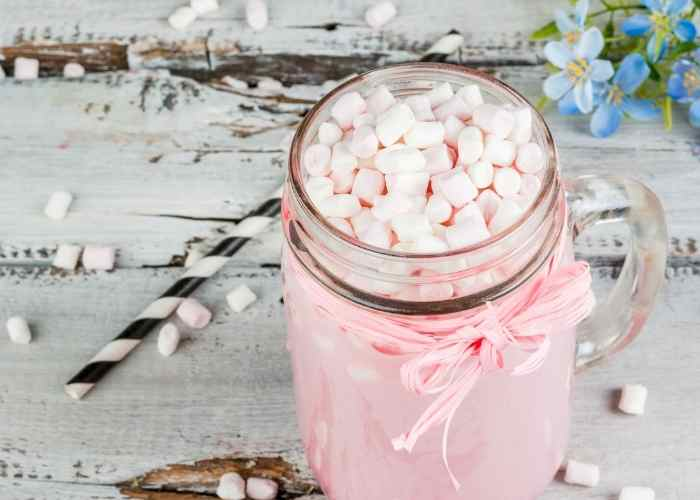 pink hot chocolate recipe for valentine s day