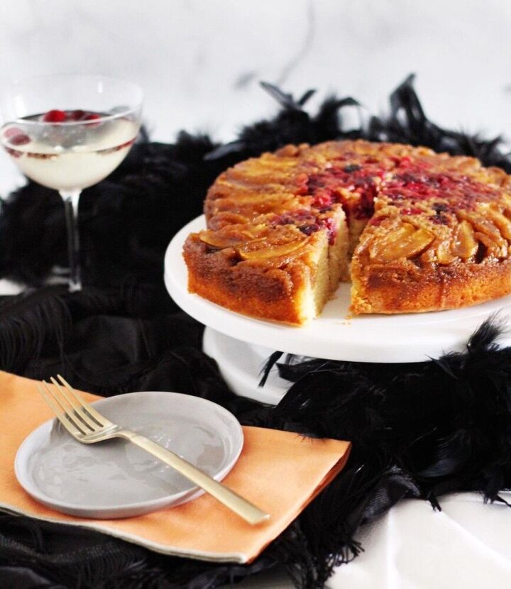 apple cranberry upside down cake