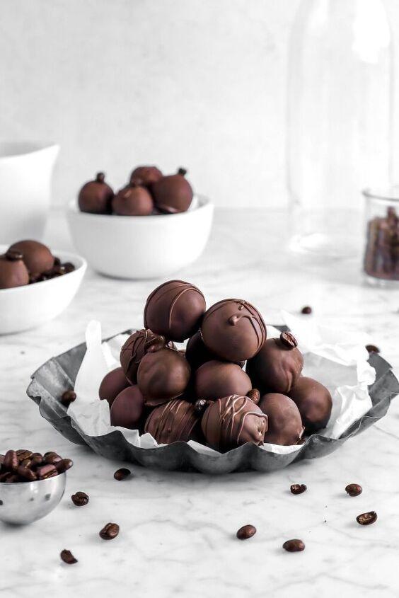 dark chocolate coffee truffles