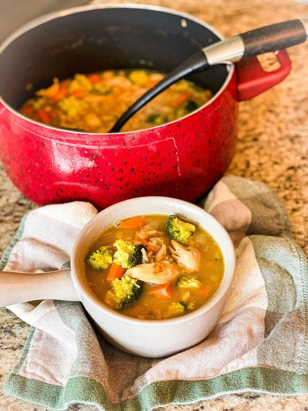 healthy homemade chicken soup
