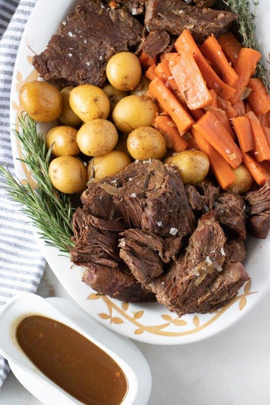 s 15 set and forget crock pot meals, Beef Pot Roast Carrots and Potatoes